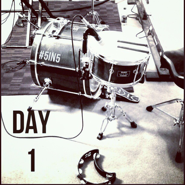 ... and so it begins... #5in5 #day1 @ http://danieljohnmusic.com
