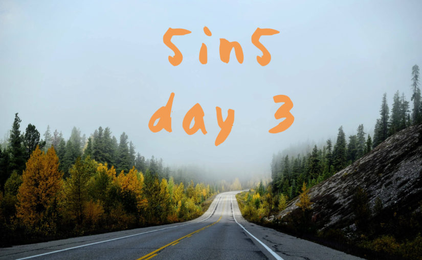 5in5 | day 3 |2016